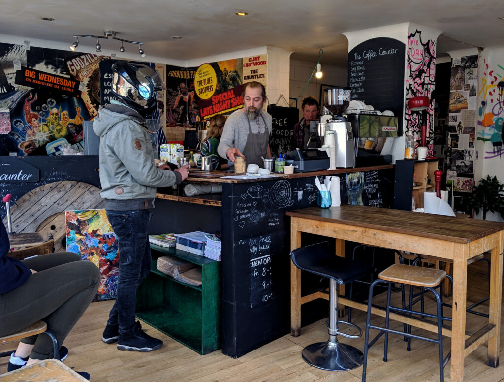 Coffee Counter in Brighton, England width=