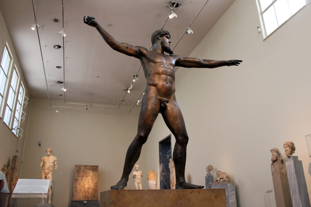 National Archaeological Museum Zeus or Poseidon Statue in Athens Greece
