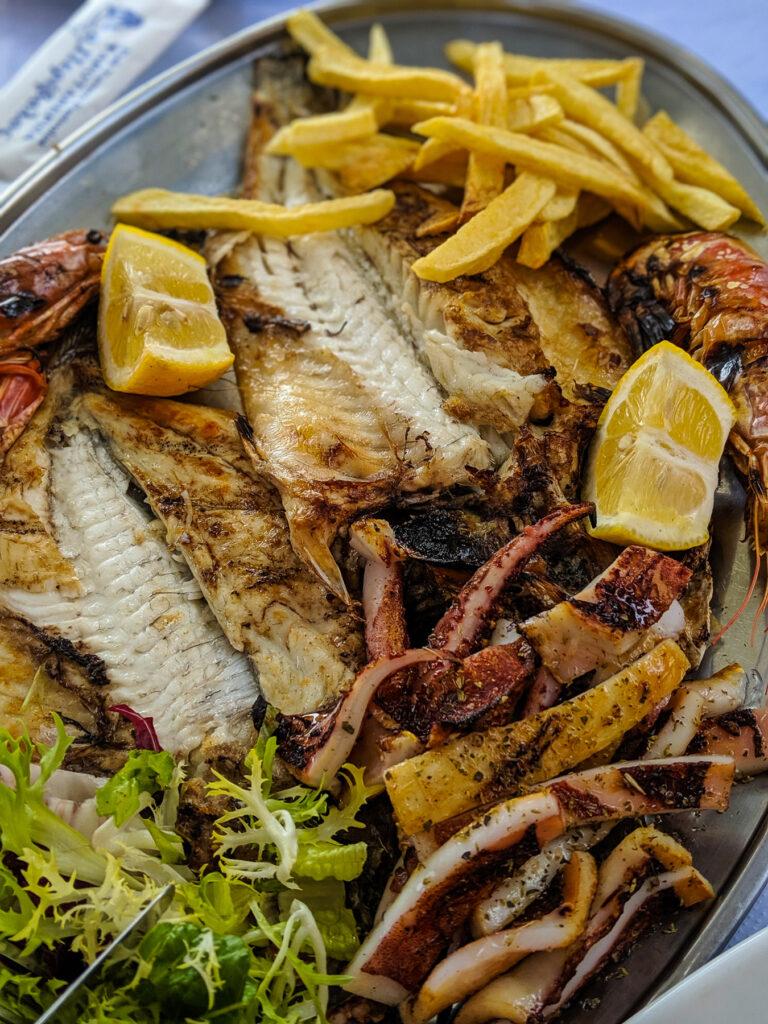 Seafood Platter at Psarotaverna o Perivolos