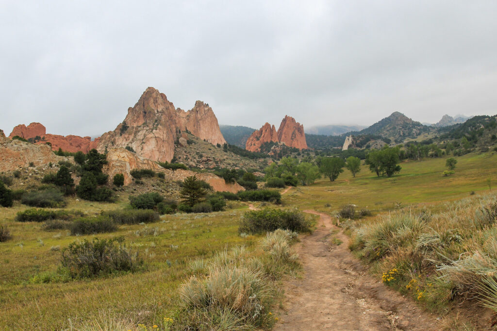 Misty Valley at Garden of the Gods in Colorado