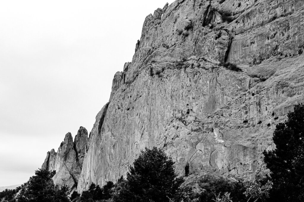 Garden of the Gods B&W Photo