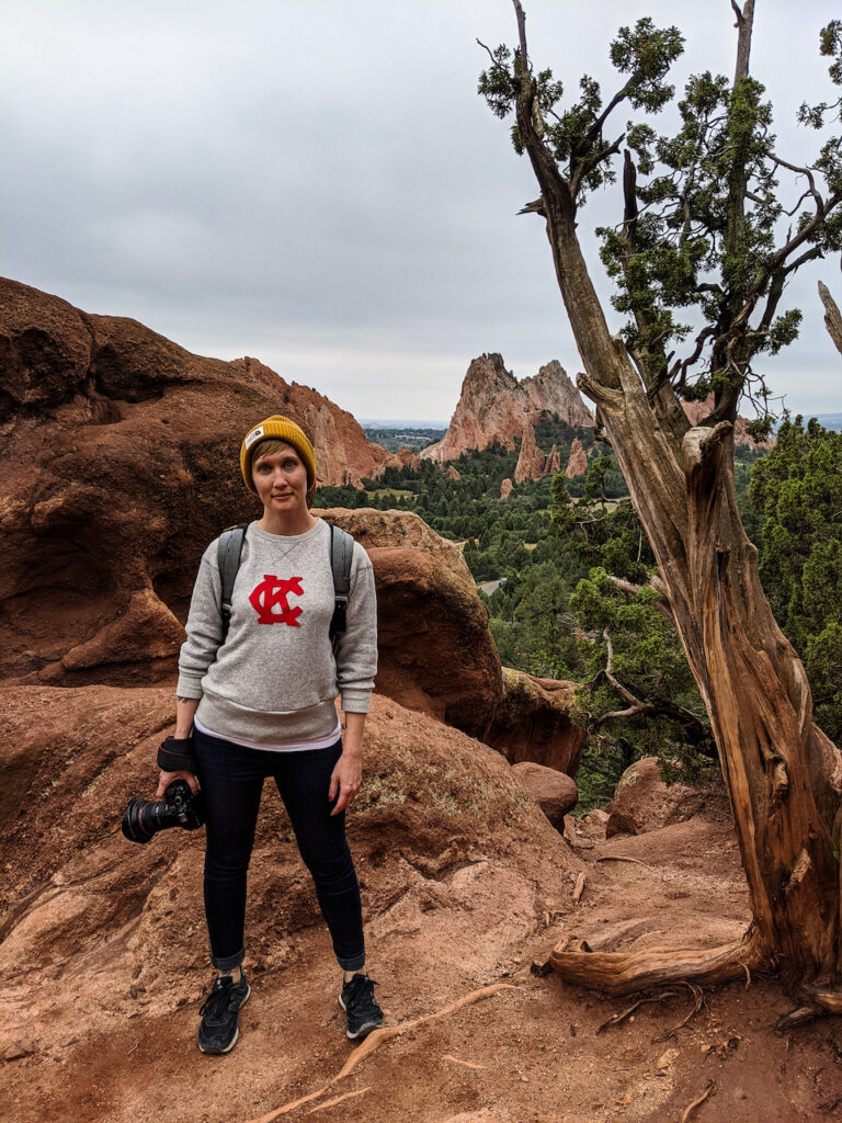KCTRVLR Heather Physioc at Garden of the Gods in Colorado Springs