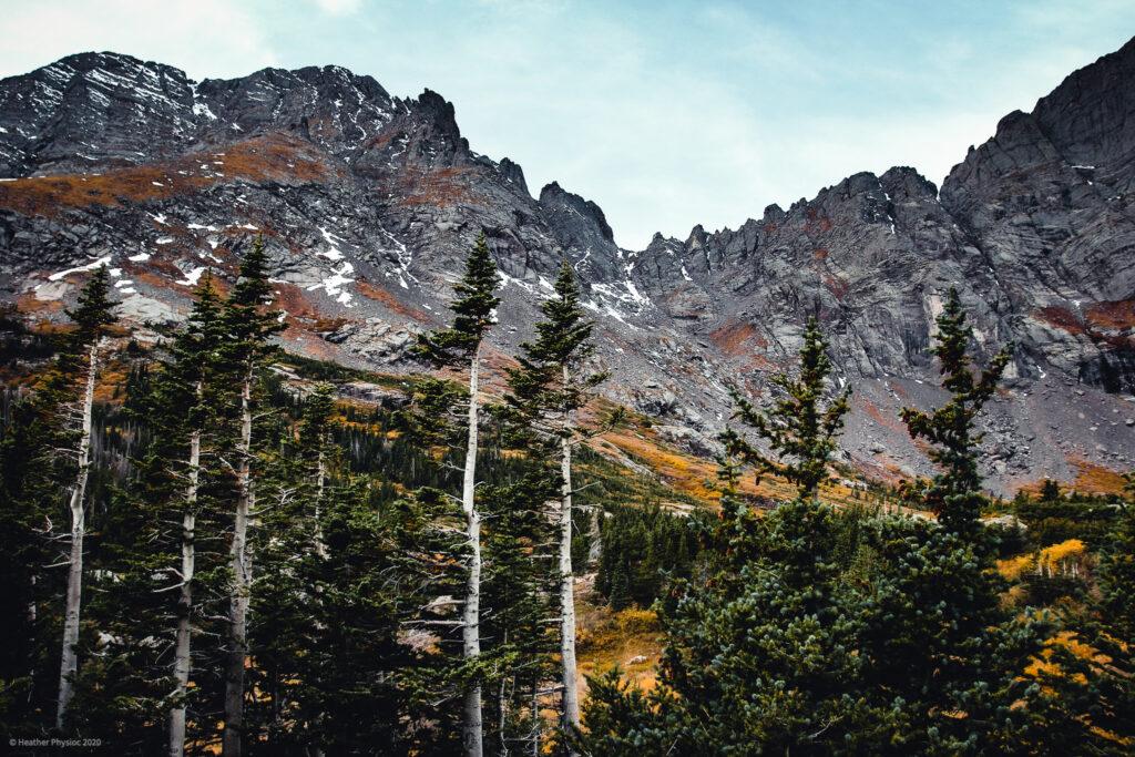 Autumn Foliage in Crestone Needles Mountain Range in Colorado