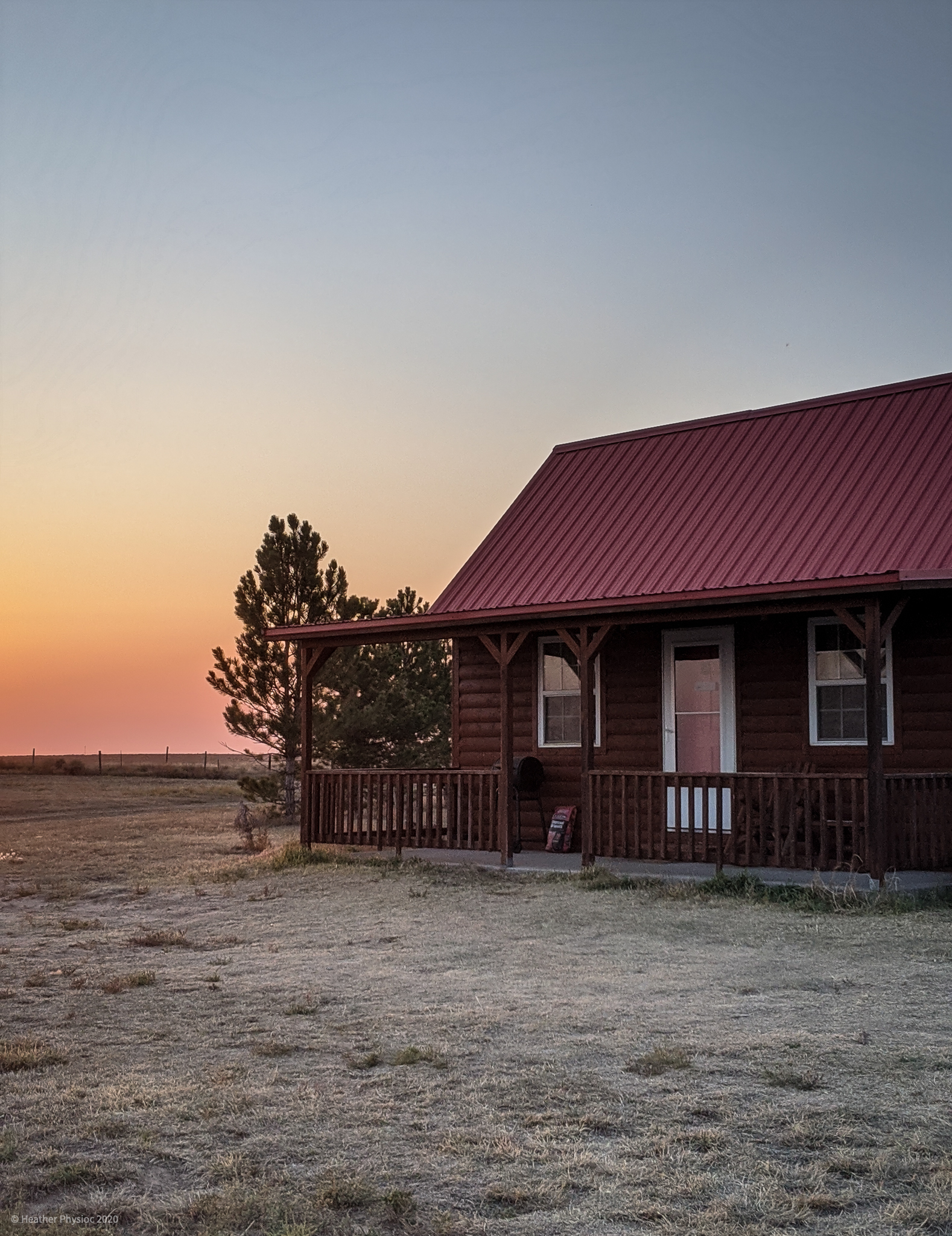 Sunset at a Farmhouse Cabin in Stratton, Colorado