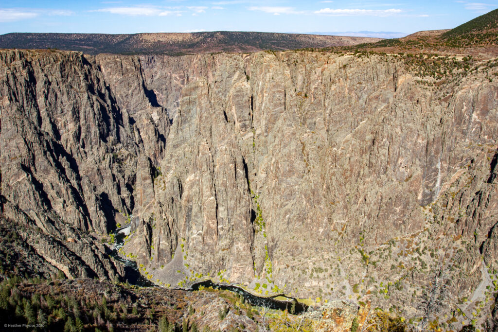 Canyon Wall at Black Canyon of the Gunnison National Park in Colorado