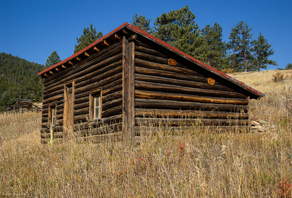 Swedish-American Tallman Milk House at Golden Gate Canyon State Park in Colorado