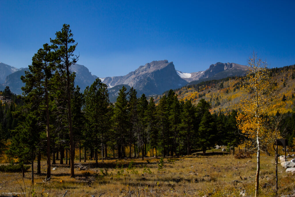 Mountain Landscape at Rocky Mountain National Park