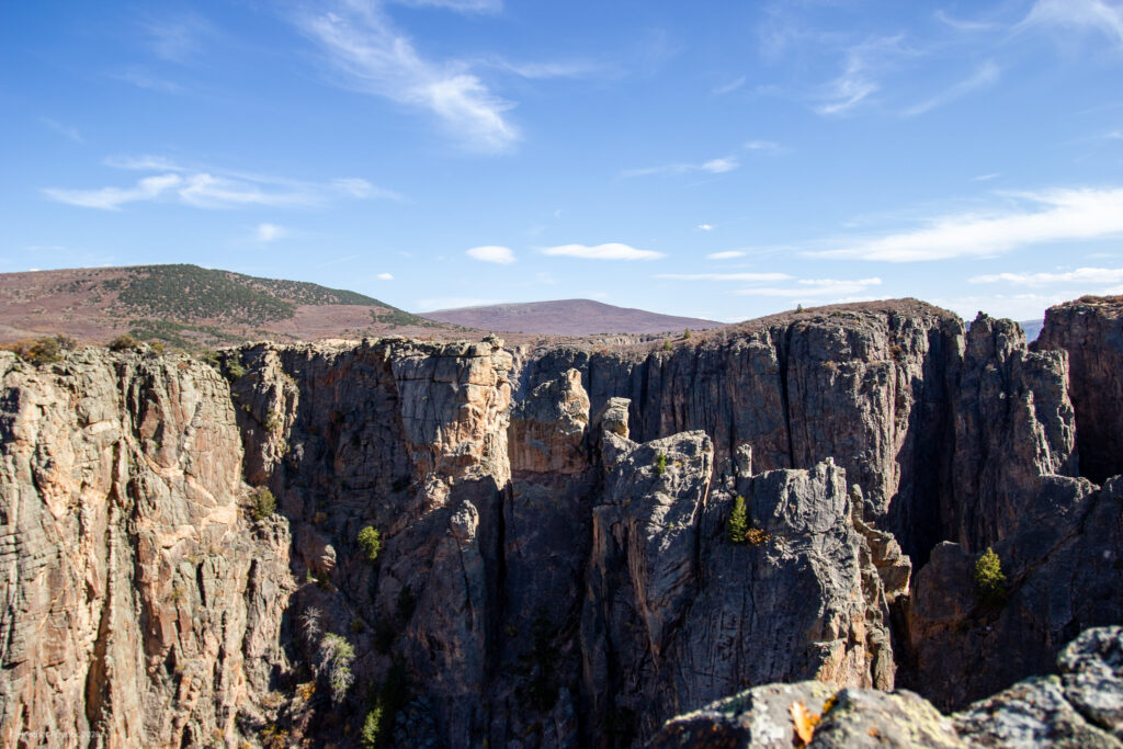 Views at Black Canyon of the Gunnison National Park in Colorado
