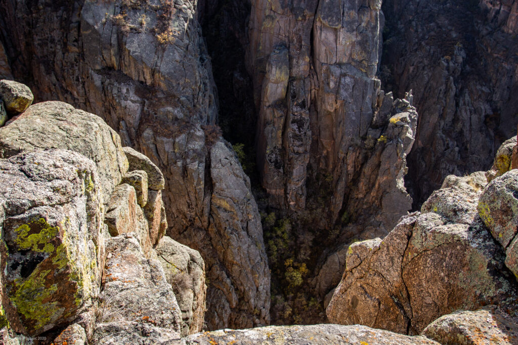 Looking into the Black Canyon of the Gunnison National Park in Colorado