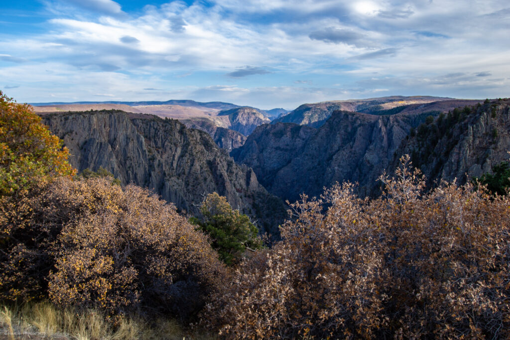 Multicolored Layers of Canyon Wall at  Black Canyon of the Gunnison National Park