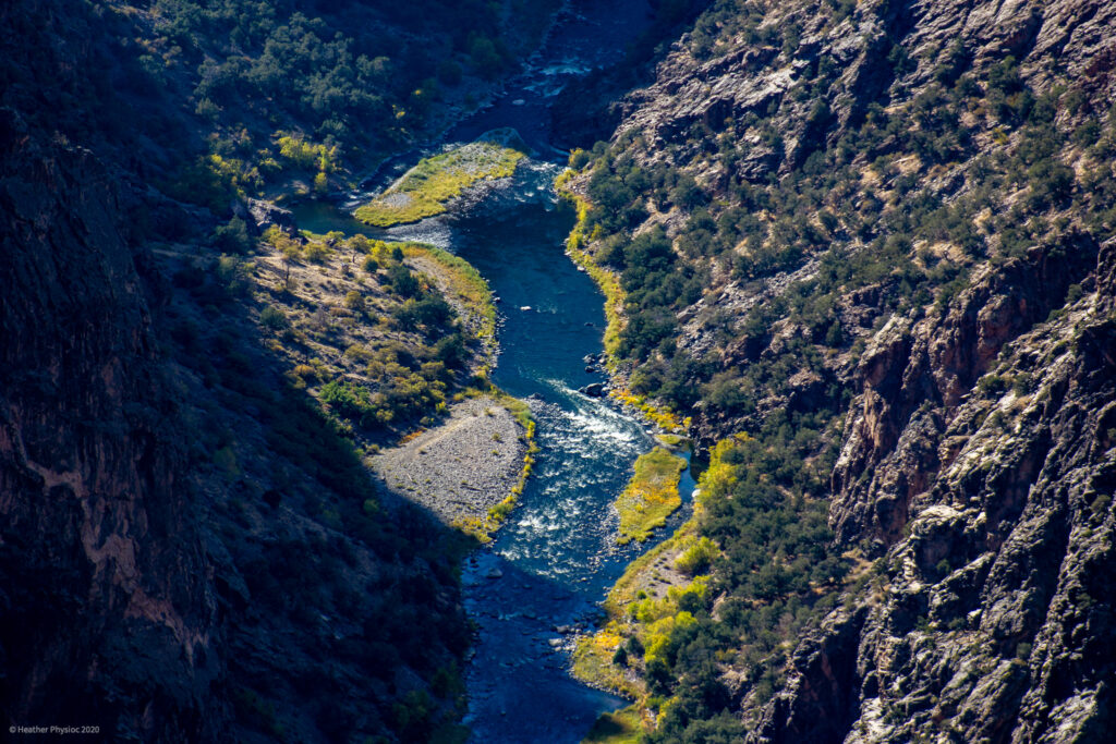 Gunnison River Sunlight at Black Canyon of the Gunnison National Park in Colorado