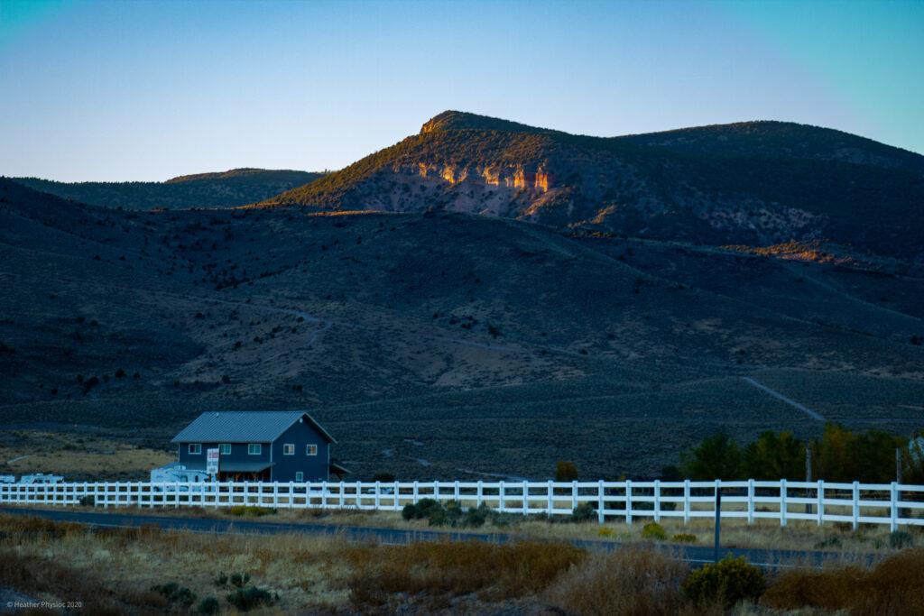 Antimony Utah at Sunset