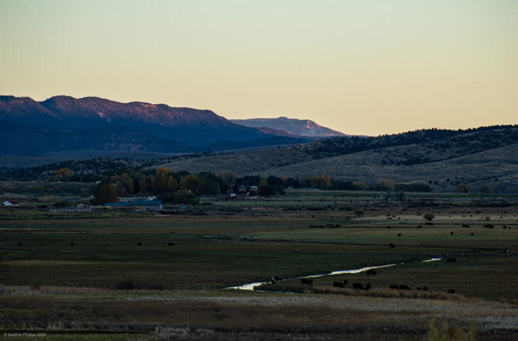 Sunset Over Antimony, Utah Homestead