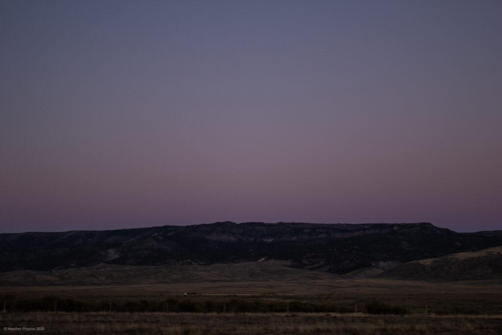 Purple Sunset in Antimony, Utah