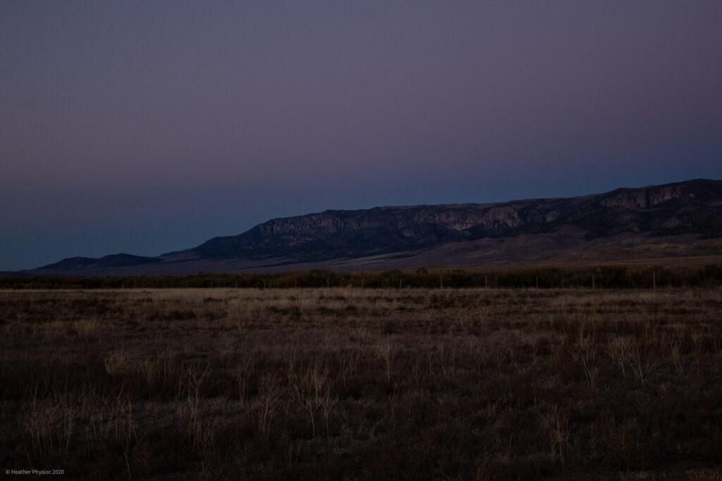 Purple Sunset over Antimony, Utah Homestead