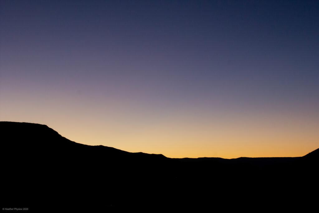 Sunset on Mountain Ridge in Antimony, Utah