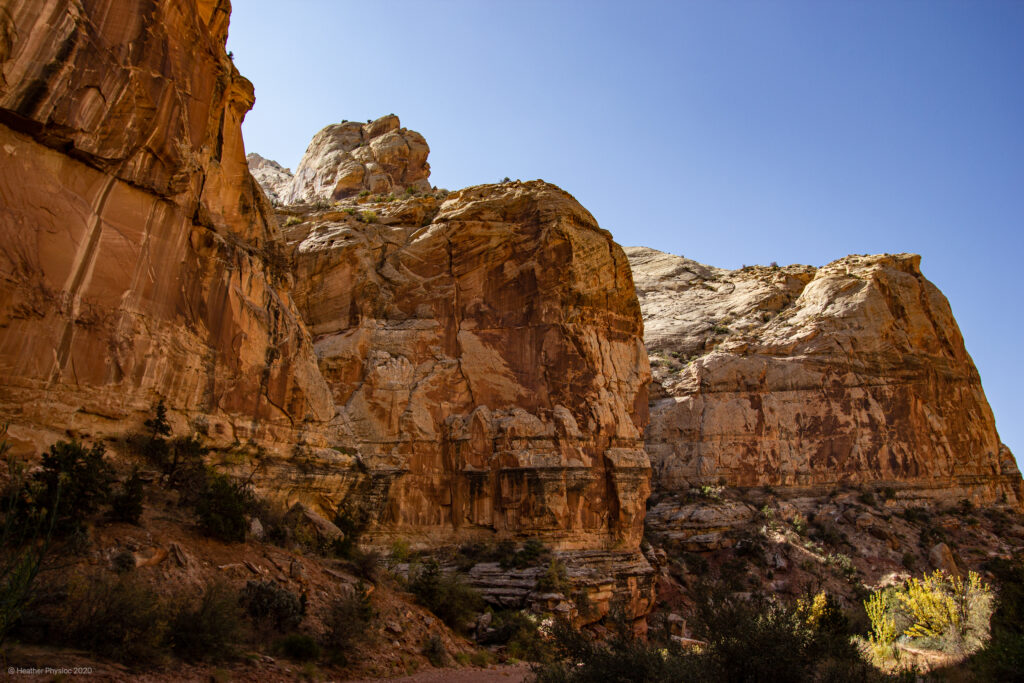 Geologic Formations at Capitol Reef National Park in Utah