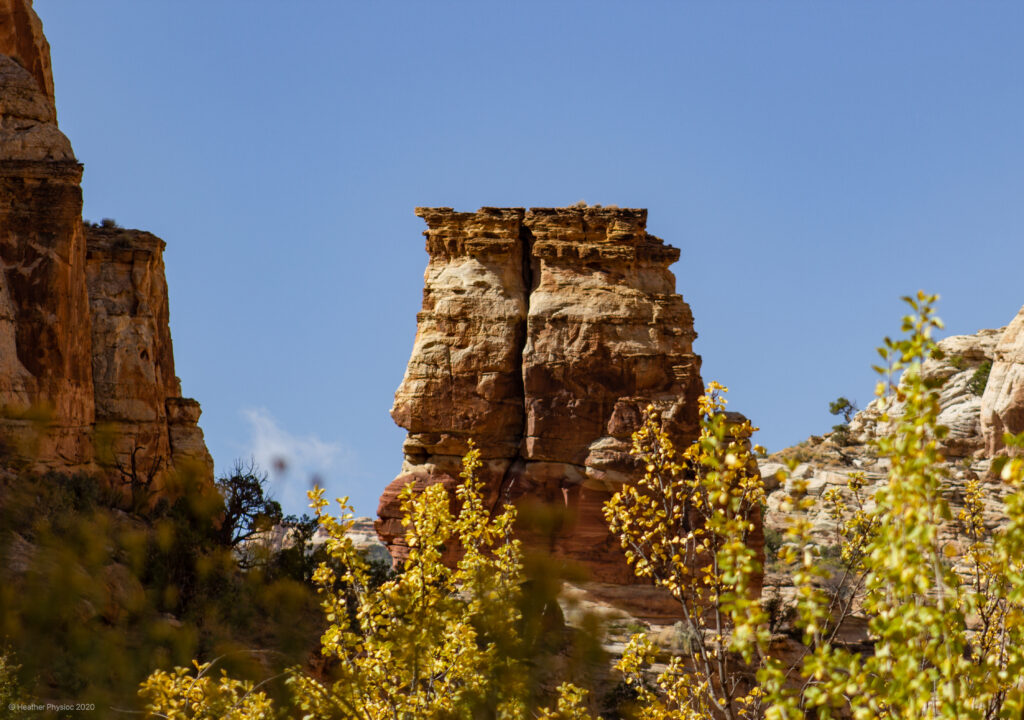 Plateau Spire at Capitol Reef National Park in Utah
