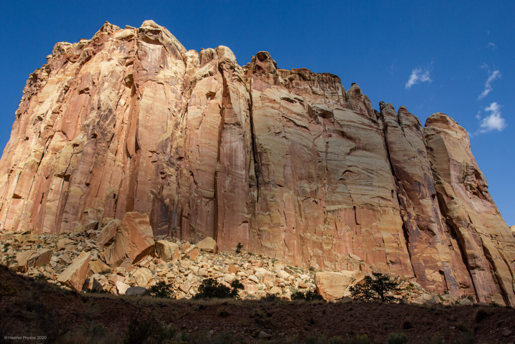 Cloud Shadow on Geologic Formation in Capitol Reef National Park