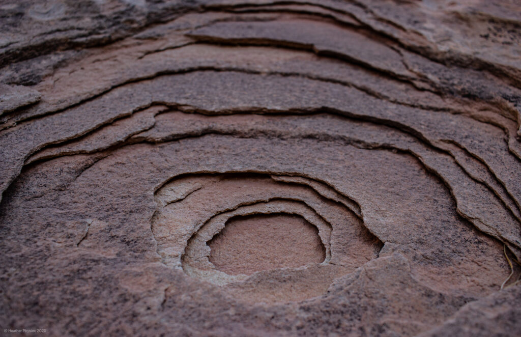 Sandstone Layers at Capitol Reef National Park in Utah