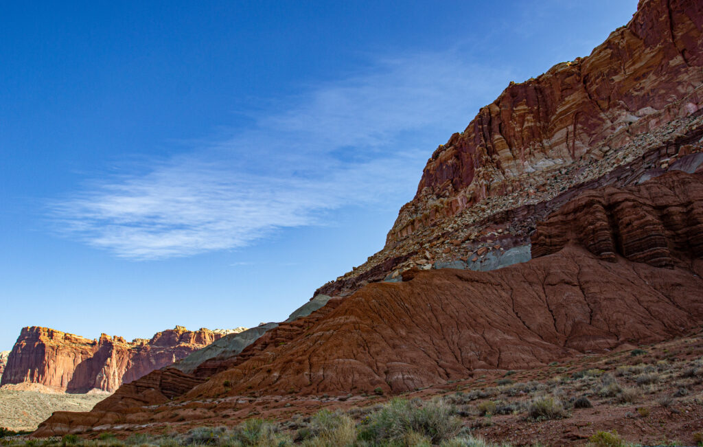 Cliff Faces at Capitol Reef National Park in Utah