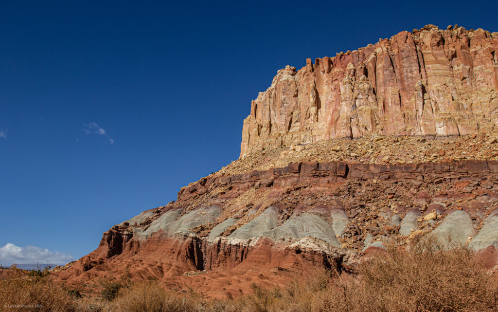 Chinle Formations at Capitol Reef National Park in Utah