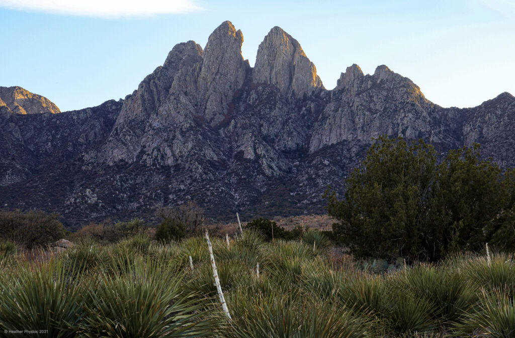 Organ Mountains at Sunset in New Mexico