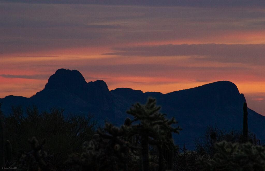 Painted Desert Sunset at the Santa Clarita Mountains from Oro Valley, Arizona