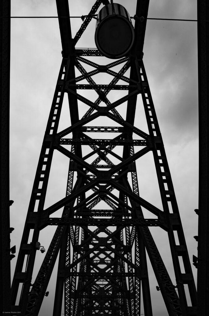Big Four Bridge Black & White Abstract in Louisville, Kentucky